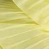YELLOW PLEATED